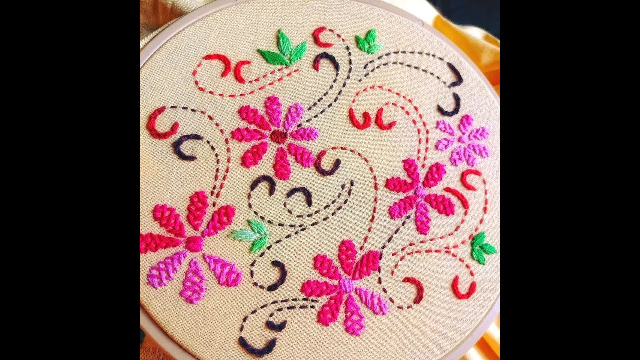 Hand Embroidery Latest Dopatta Embroidery Design Phulkari Orna