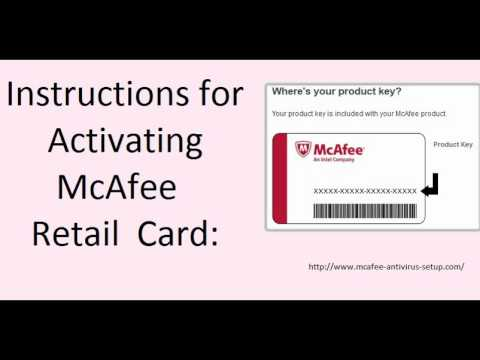 How to Activate (Redeem) McAfee® Retail Card