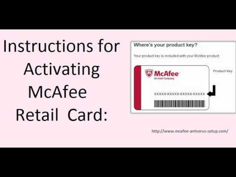 mcafee registration key