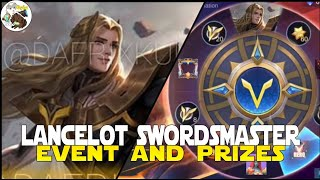 LANCELOT SWORDMASTER EVENT AND PRIZES RECALL, SPAWN AND MORE MOBILE LEGENDS SUPERHERO SQUAD MLBB!