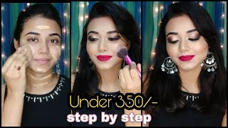 How to do Parlour Makeup at Home || Step by Step Makeup Tutorial | All Products Under 350 Rs.