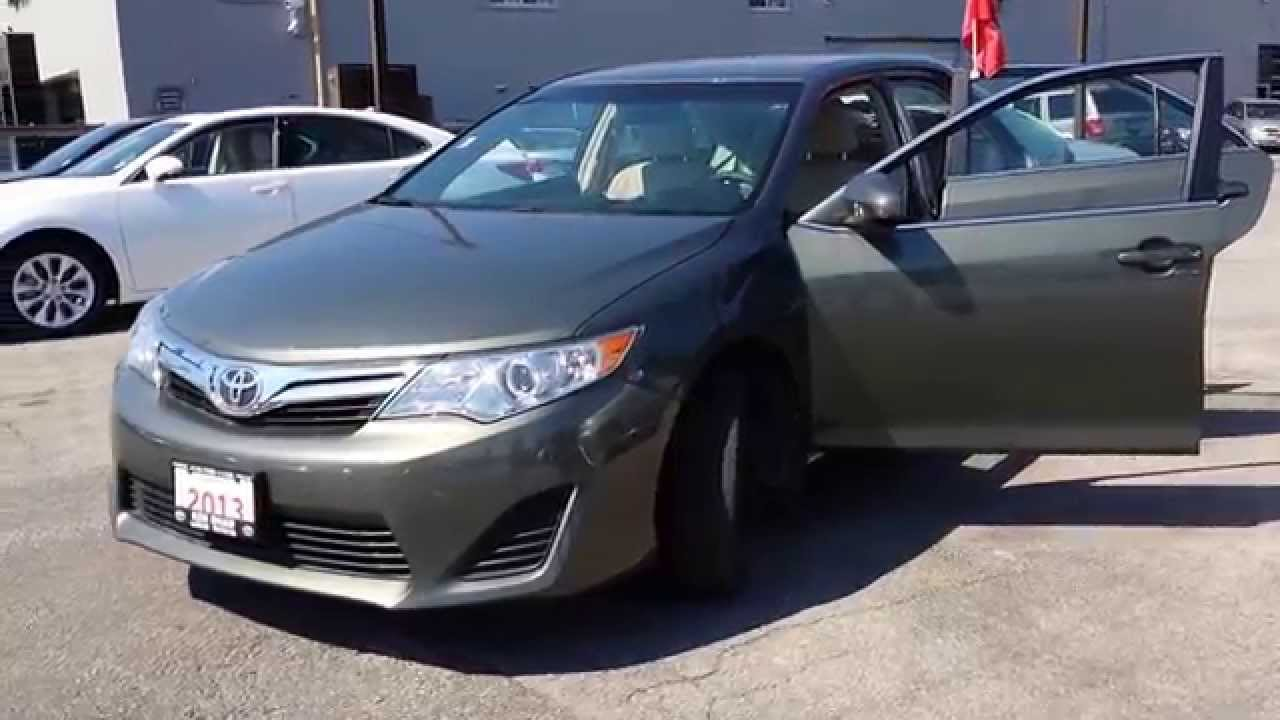 2013 toyota camry le dark green youtube. Black Bedroom Furniture Sets. Home Design Ideas