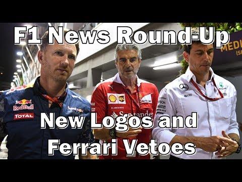 F1 News Round-Up: New Logos and Ferrari Vetoes