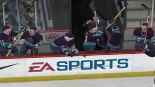 NHL 2005 ХАСКИ И SKA. ИГРОКА ХАСКИ ПОЛУЧИЛ ШАЙБОЙ ПО ГОЛОВЕ. ЧАСТЬ №2