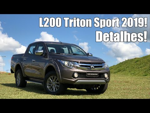 04760cbb5 Mitsubishi L200 Triton Sport 2019 em Detalhes - Falando de Carro - YouTube