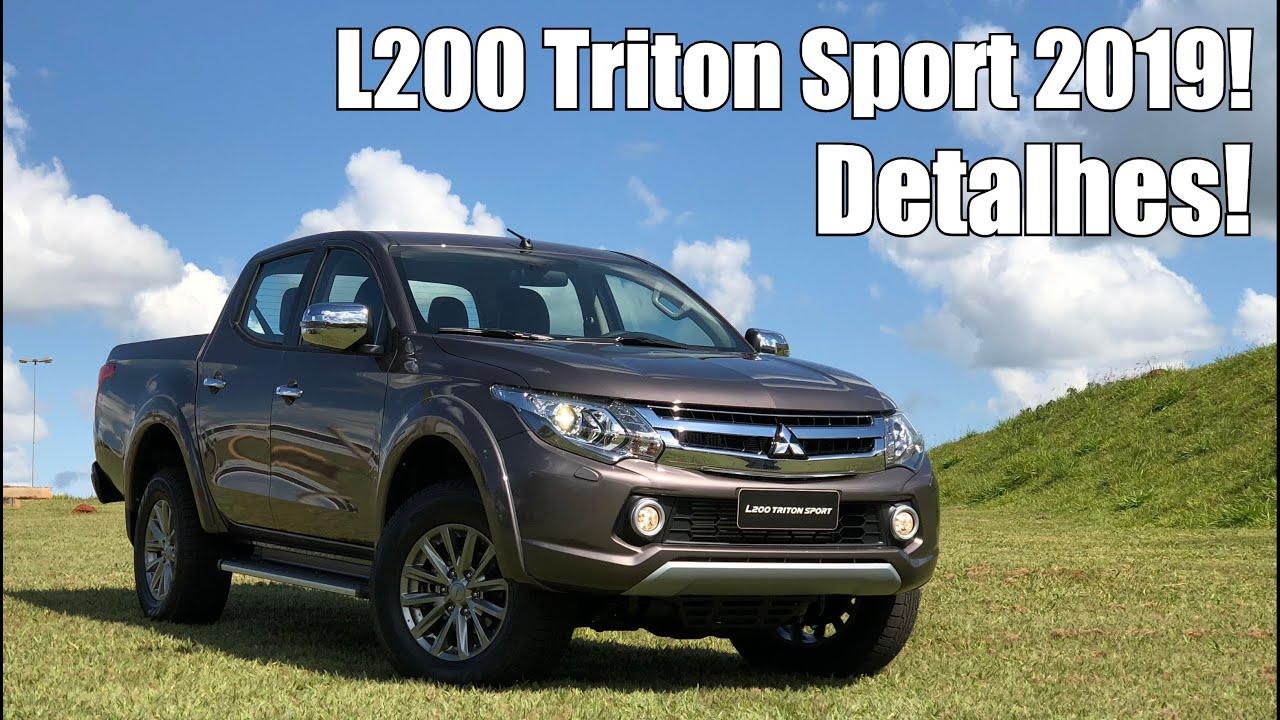f3ee71581 Mitsubishi L200 Triton Sport 2019 em Detalhes - Falando de Carro ...