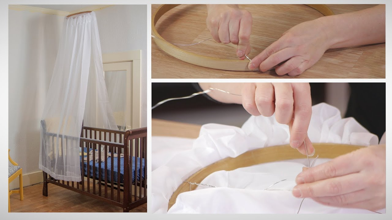 & How to Make a No-Sew Crib Canopy - YouTube