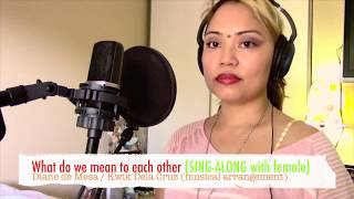 What do we mean to each other - SING-ALONG with female! (cover) - Diane de Mesa
