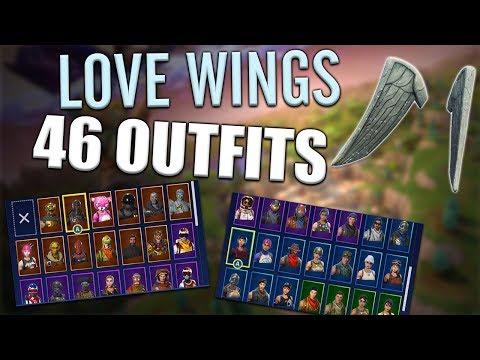 Love Wings Back Bling on 46 Outfits | Love Ranger - Fortnite