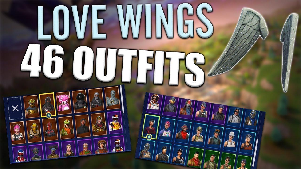Love Wings Back Bling On 46 Outfits Love Ranger Fortnite Youtube
