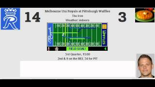 week 11 melbourne uni royals 5 5 pittsburgh waffles 3 7