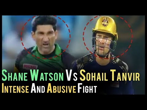 Fight Between Sohail Tanvir And Shane Watson | Abusive Fight In Cricket | PSL 2018| Multan Vs Quetta