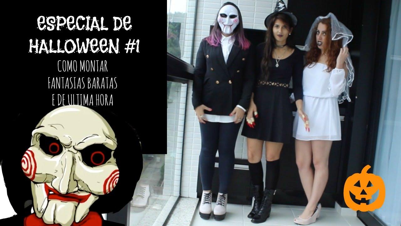 especial halloween 1 fantasias baratas youtube - Halloween 1