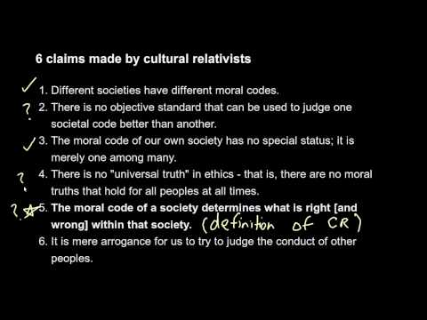 8a Cultural Relativism - what is it?