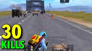 SUPER EPIC BRIDGE FIGHT | 30 KILLS SOLO VS SQUAD | PUBG MOBILE