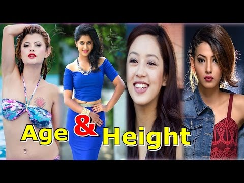 Real age and Height Of Popular Nepali Actresses 2017-18