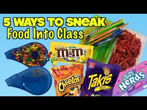 5 Smart Ways To Sneak Food and Candy Into Class: Part 28 – School Life Hacks | Nextraker