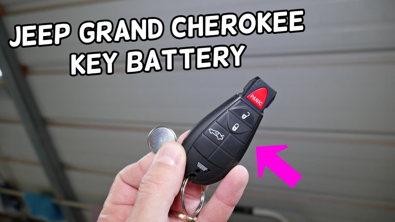 Jeep Grand Cherokee Key Fob Battery Replacement Key Not Working Fix Youtube