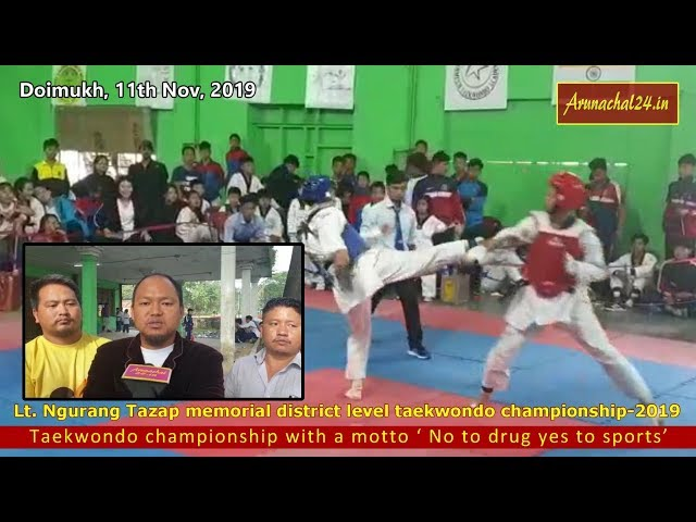 Arunachal- Taekwondo Championship with a motto No to drug yes to sports