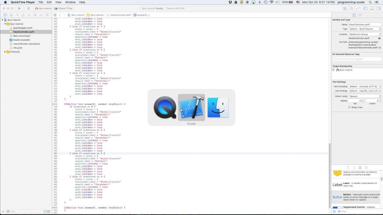 iOS 10 Swift 3 Xcode 8 tutorials: Part 2 of Multiple
