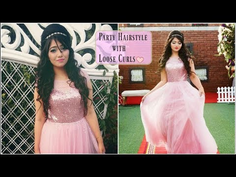 Party Hairstyle With Broad Puff And Loose Curls Gorgeous Wedding Occasion Hairstyle Youtube