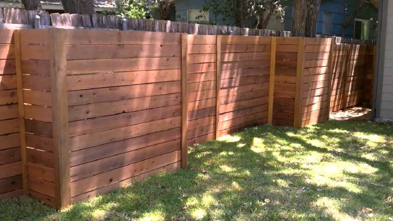 Horizontal Wood Fence Austin Texas 512 699 2825 YouTube