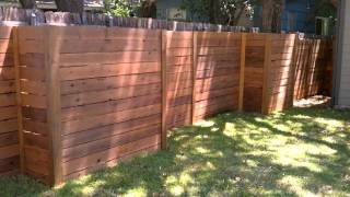 Horizontal Wood Fence Austin Texas 512-699-2825