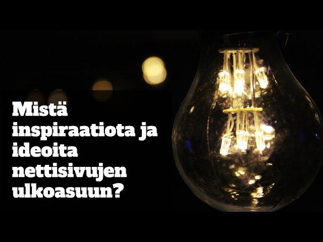 Mistä inspiraatio ideoita sivulle?