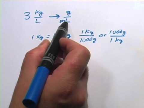 Converting kg l to g ml youtube - How to convert liter to kilogram ...