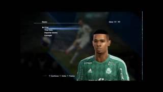 Gabriel Jesus (Palmeiras) E Valdívia (Internacional) - FACES E HAIR PES 2013