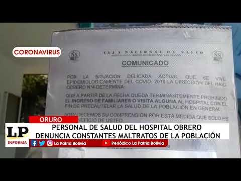 Personal de salud del Hospital Obrero de...