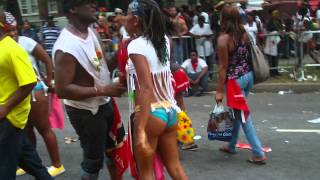 DRAMA @ NYC LABOR DAY/ CARRIBEAN DAY PARADE 2012... stampede