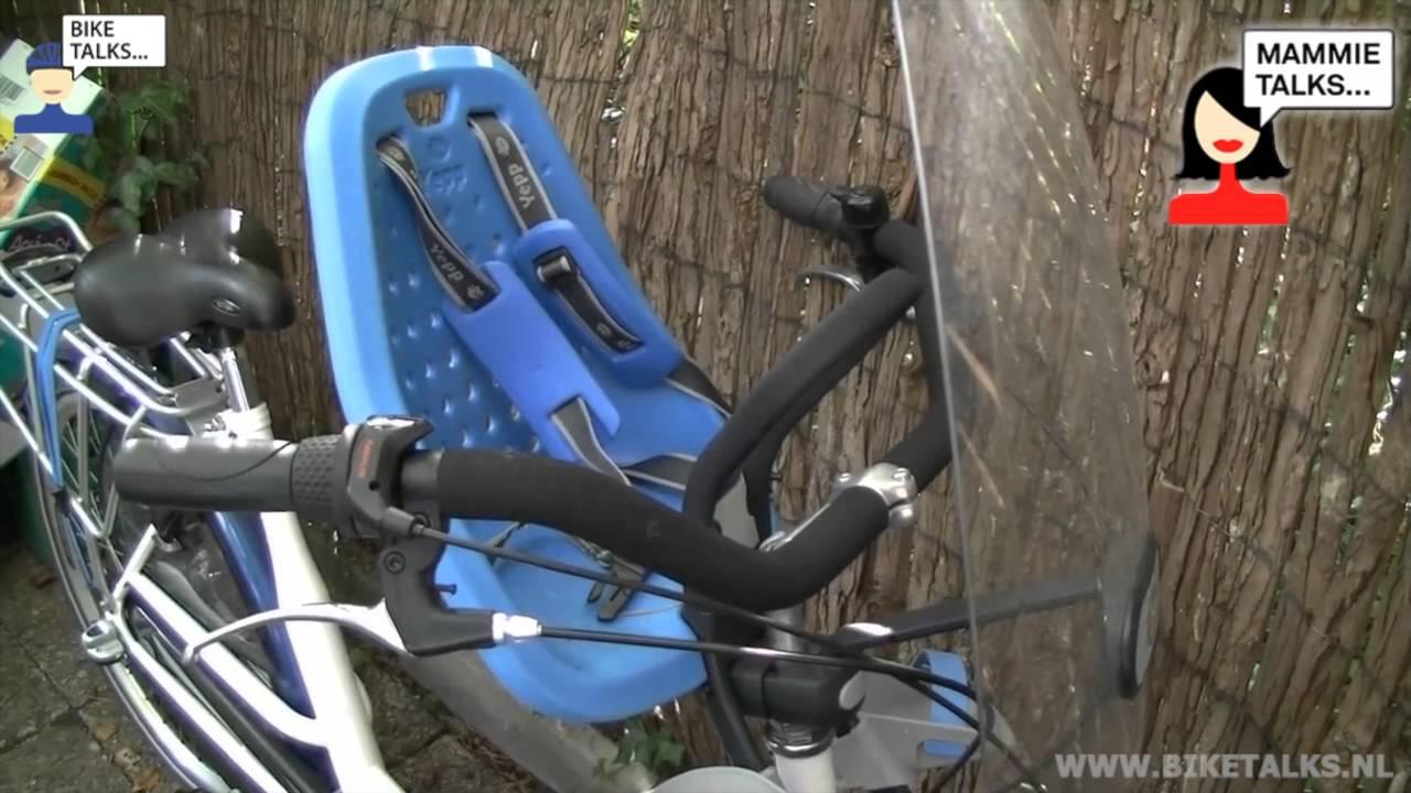 Nieuw Fietsstoeltje Yepp mini blue review door Merel voor BikeTalks PP-39