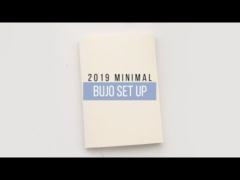 2019 minimal bujo setup | plan with me