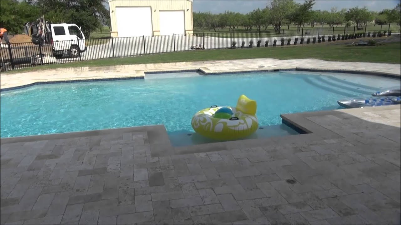 Cheap Pavers Pool Deck Travertine Pavers Pool Deck  Antique Ivory And Walnut  Dallas