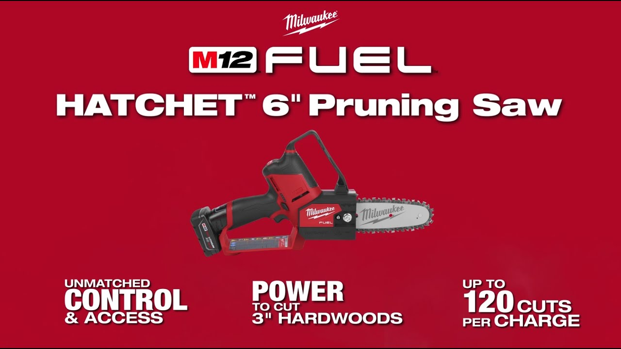 "Milwaukee® M12 FUEL™ HATCHET™ 6"" Pruning Saw"