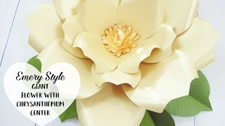 Emery Style- Giant Paper Flower Step by Step Tutorial.