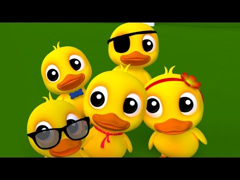 cinq petits canards riment   des chansons pour enfants   enfants rime collection