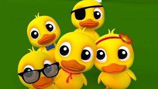 cinq petits canards riment | des chansons pour enfants | enfants rime collection