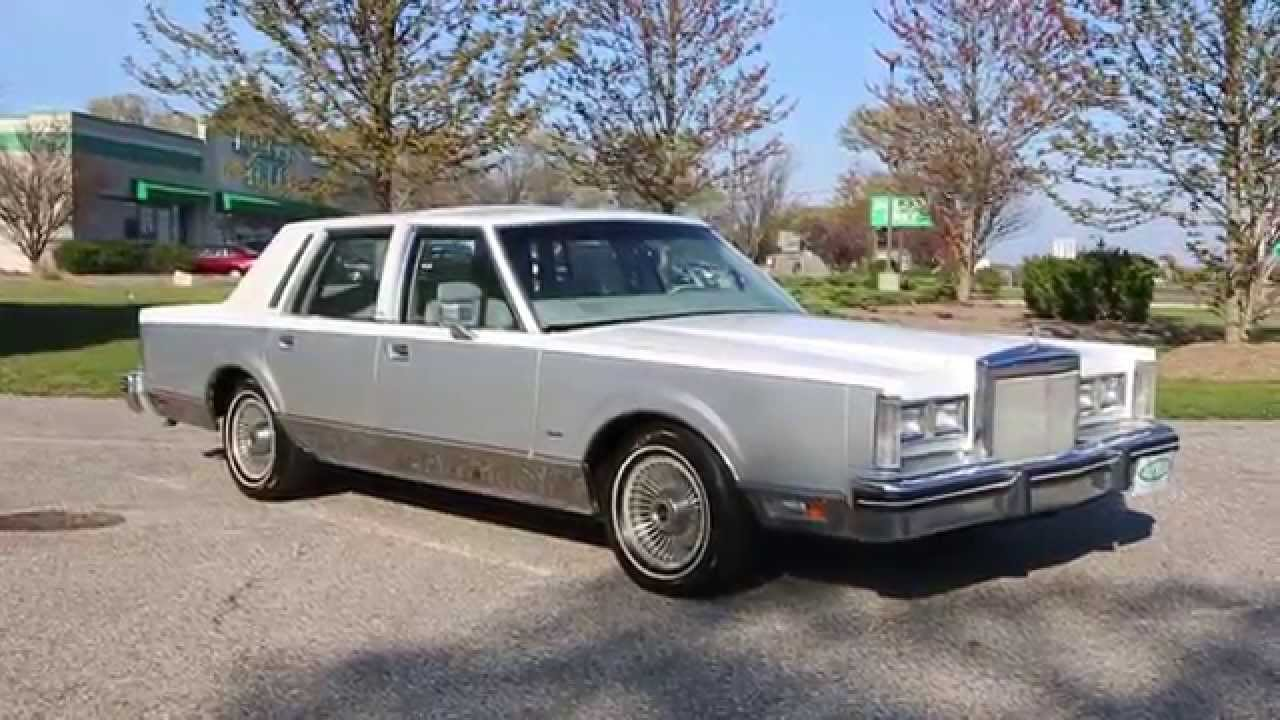 Sold 1984 Lincoln Town Car Cartier For Loaded Only 24 602 Miles Beautiful Condition You