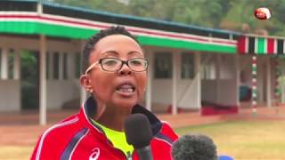 First Lady trains with journalists as she gears up for marathon