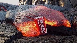 ► Expériences avec du magma (coulée de lave basaltique)