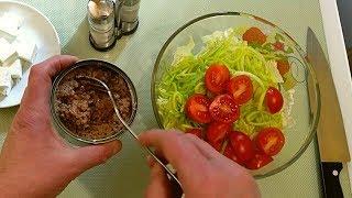 Вкуснейший Салат за 5 минут с консервированным Тунцом и Фетой