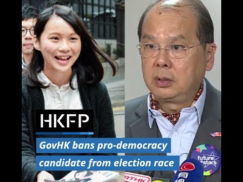 Hong Kong gov't bans pro-democracy election candidate Agnes Chow from election