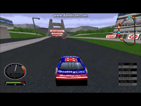 NASCAR Road Racing (PC) Gameplay (Dale Jarrett) (Bridgeport Speedway) (5 Laps)