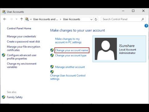 windows 8.1 change user account