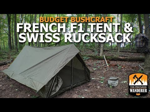 Budget Bushcraft: French F1 Tent and Swiss Rucksack