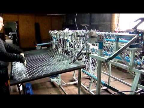 Станок автомат для изготовления сетки рабицы, односпиральный