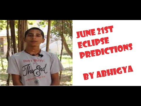 ECLIPSE DETAILS - What may happen from JUNE 21ST by Abhigya