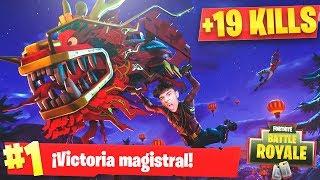 VICTORIA ÉPICA CON EL DRAGON LEGENDARIO de FORTNITE: Battle Royale!! - Agustin51